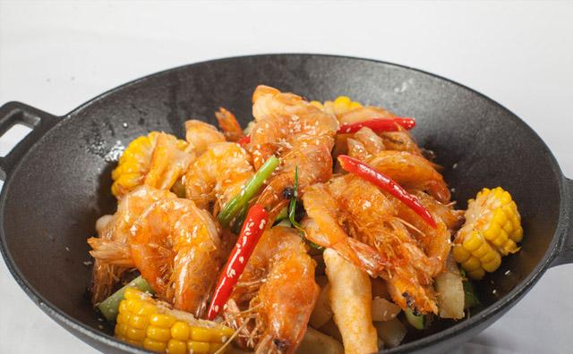 香锅干锅虾的家常做法