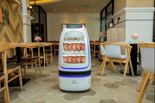 装载饮料的货郎机器人