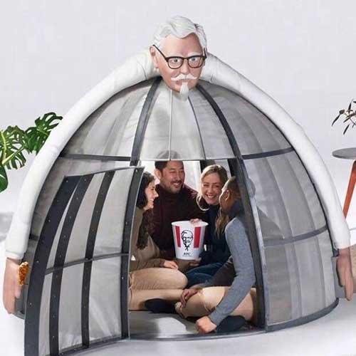 """肯德基推出""""奇怪""""帐篷"""