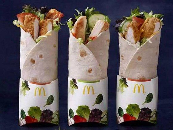麦当劳的M记卷饼系列