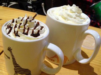 动物园白巧克力拿铁咖啡