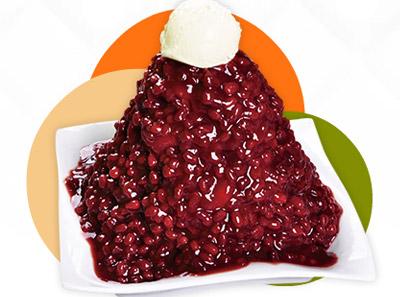水果捞红豆牛奶冰