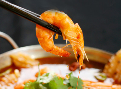 美味香辣汤汁虾