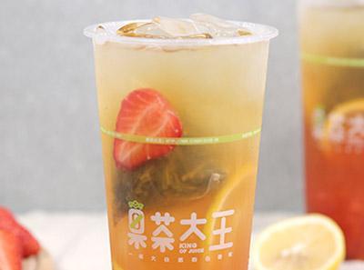 果茶大王饮品店面
