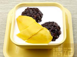 芒果黑糯米甜甜-(冻椰汁)