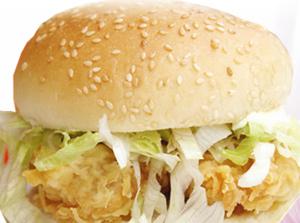 巨人西式快餐香辣鸡腿汉堡