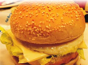 巨人西式快餐芝士蛋香汉堡