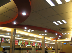 新四方快餐店面