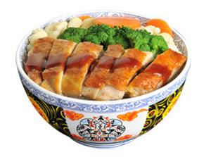 雅山日式快餐鲜蔬煎鸡饭