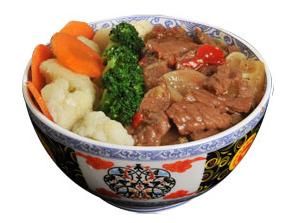 雅山日式快餐剁椒牛肉饭