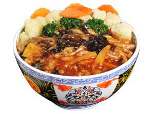 雅山日式快餐鱼香肉丝饭