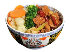 雅山日式快餐辣子鸡肉饭
