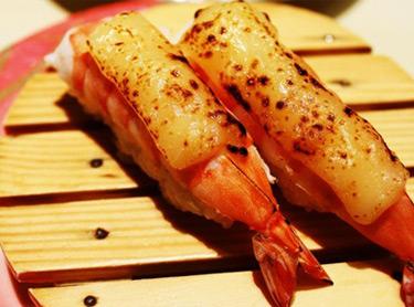 越前外带寿司-火炙芝士虾