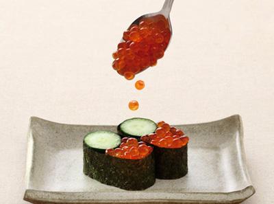 争鲜鲑鱼子寿司