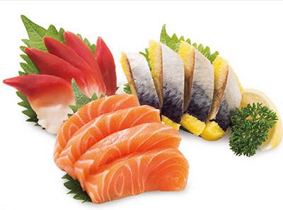 吉哆啦回转寿司-三色刺身