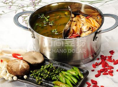 品尚豆捞鸳鸯锅—玄一色,菌汤