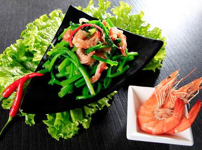 37度海鲜面海米菠菜