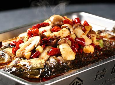 辣尚瘾松茸烤鱼