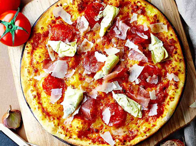 百特喜意大利风干火腿披萨