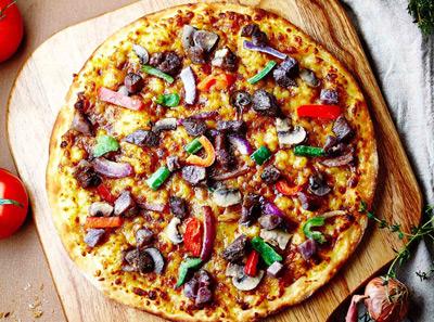 百特喜黑胡椒牛肉披萨