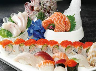 798生鱼片与寿司组合