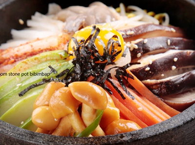 韩林炭烤蘑菇石锅拌饭