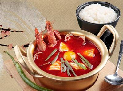 韩林炭烤海鲜嫩豆腐汤