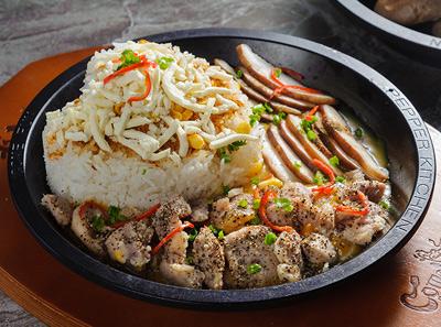 来趣黑椒厨房至尊芝士咖喱鸡肉饭