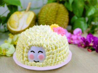榴小莲猫山王生日蛋糕