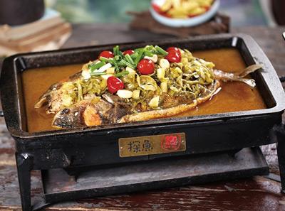 探鱼酸菜味烤鱼