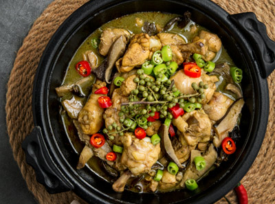程大碗小鸡炖蘑菇