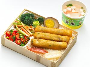 宝岛便当特制虾卷饭