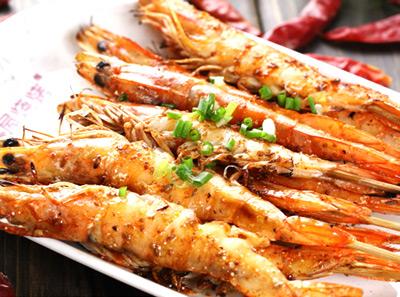 木屋烧烤烤海虾
