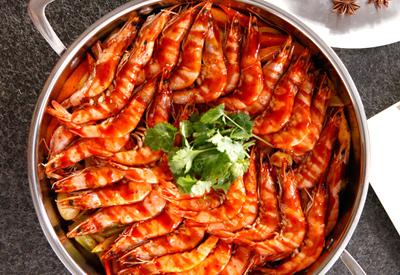 臻口福三汁焖锅虾
