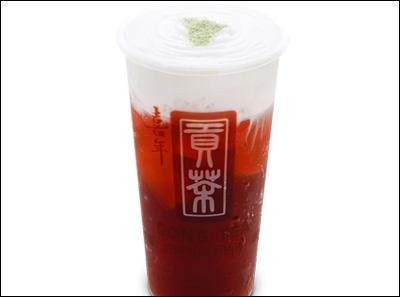 喜年贡茶奶盖红茶