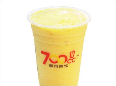 700都市茶饮芒橙奶昔