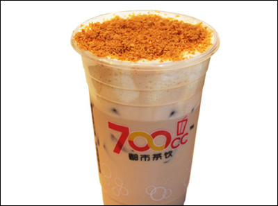 700都市茶饮芝士椰子奶茶