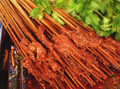 小郡肝串串香香辣牛肉