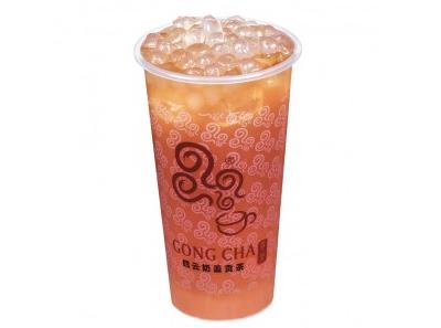 四云奶盖贡茶加盟寒天西柚茶