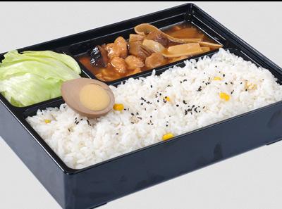 袁记肉夹馍香菇滑鸡饭