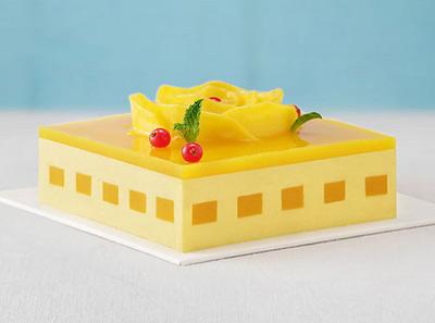 好利来芒果列车蛋糕