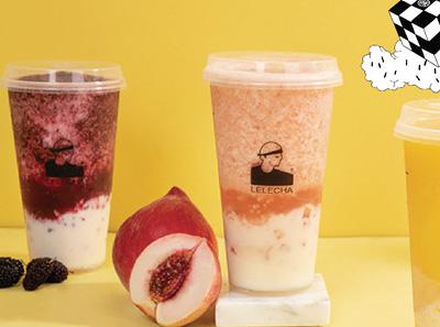 LELECHA乐乐茶饮品展示