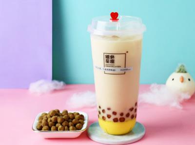 银色星座奶茶