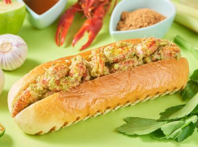 ROUROU煣煣小龙虾堡加盟菜品