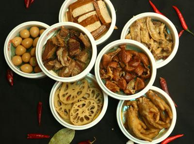 伴山城火锅集市加盟菜品展示