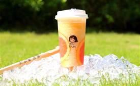 王小姐的茶,一个可爱的卡通形象代言一杯杯香浓四溢的奶茶
